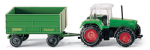 Wiking 096001 - HO Scale Fendt with Trailer